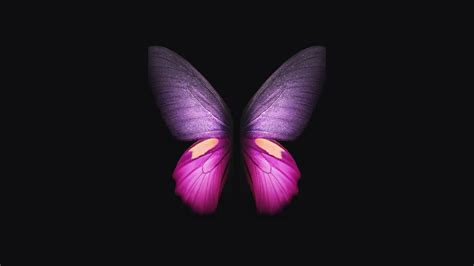 samsung galaxy fold pink butterfly  wallpapers hd