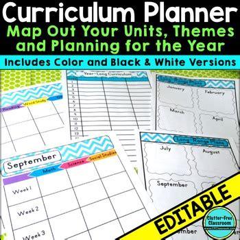 Pacing Calendar Template For Teachers by Curriculum Planning Calendar Templates Editable Maps