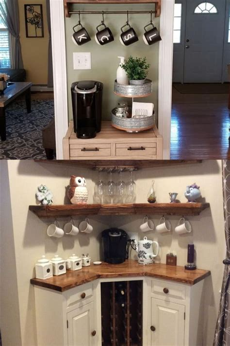 Looking for ideas for your next home coffee bar? Pin on Corner Coffee Station Ideas