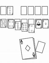 Solitaire Coloring Card Template Pages sketch template