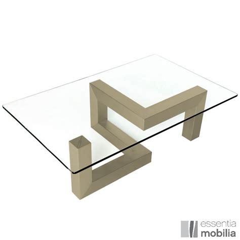 table basse design verre et acier essentia mobilia