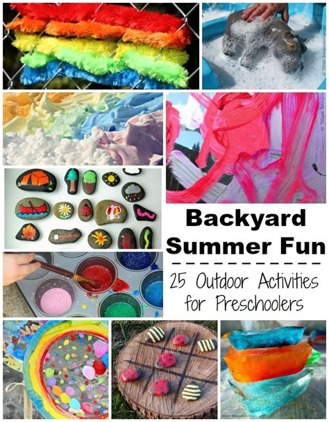 summer camp  home  fun backyard kids activities