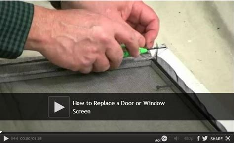 how to replace a door or window screen window screens