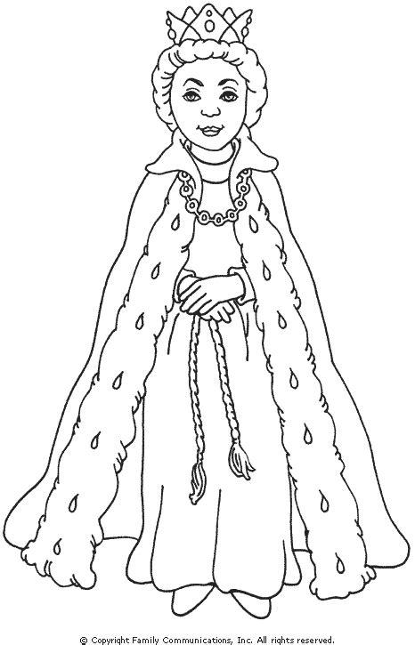 queen sara  rogers   princess coloring