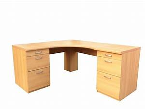 Large corner table large office corner desk with drawers for Large corner desk home office