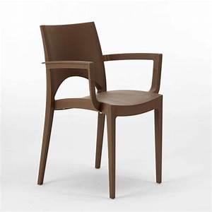Chaise Bar Cuisine : chaise en polypropyl ne avec accoudoirs pour bar restaurant paris arm grand soleil ~ Teatrodelosmanantiales.com Idées de Décoration