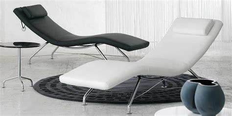 chaise longue interieur softline sense cuir blanc tous les fauteuils sur easylounge