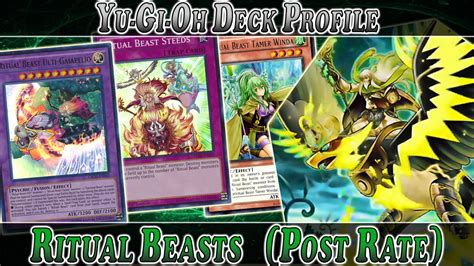 yugioh beast deck 2017 ritual beast deck profile post rate yugioh deck profile