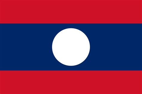 Flag Of Laos Image And Meaning Laos Flag