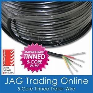 5-core Marine Grade Tinned Wire  Trailer  Automotive  Rv  Electrical Cable