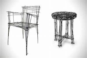 Meuble En Fer : meubles d 39 art r alis s en fil de fer par jinil park ~ Teatrodelosmanantiales.com Idées de Décoration