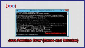 Java, Runtime, Error, Cause, And, Solution