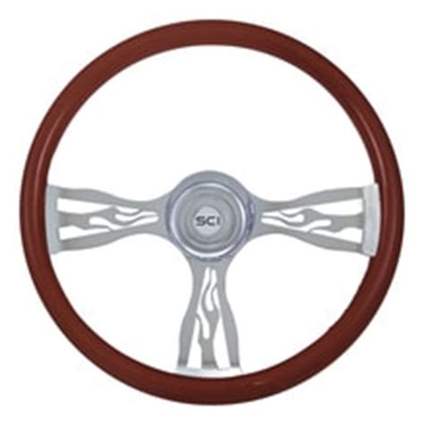 20 quot retro bone steering wheel 187 75 chrome shop