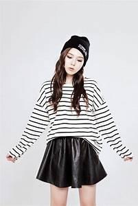 Leather skirts Korean fashion and Cute korean fashion on Pinterest