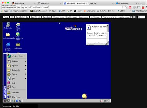 X86 Emulator Running Windows 98 In The Browser (also Try
