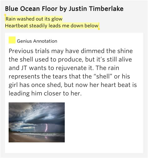 blue floor justin timberlake instrumental washed out its glow heartbeat steadily leads me