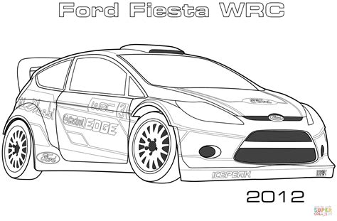 disegno  ford fiesta wrc del  da colorare disegni