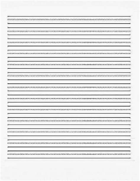 Cursive Writing Paper Template by Writing Paper Kindergarten Printable Writing Paper For