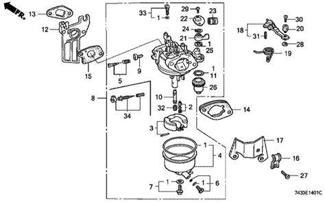 Honda Carb Diagram Cleaning honda gcv160 carb assembly doityourself community forums