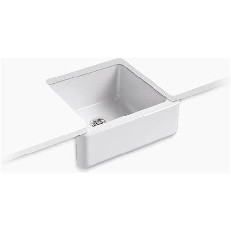 white apron front sink kohler k 5665 0 whitehaven white apron front single bowl