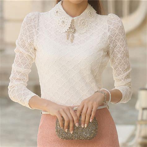 lace blouse lace blouses 2016 summer autumn fashion