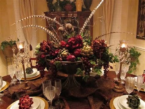dining room table centerpieces ideas youtube