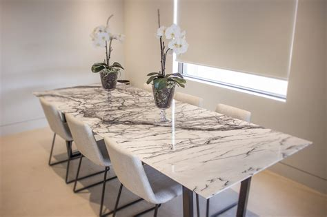 Classic Kitchen Ideas - new york marble dining table euro natural stone