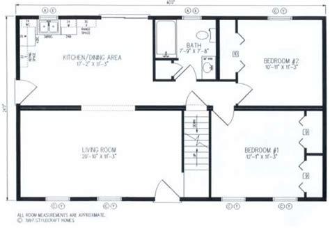 24X40 floor plan cape cod floorplans Cabin Plans