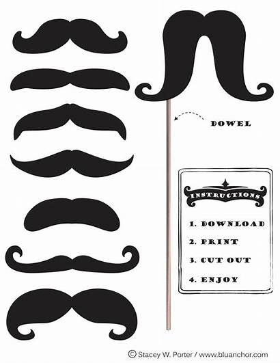 Booth Moustache Mustache Printable Props Movember Prop