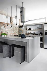 Concrete, Kitchen, Designs, That, Bring, Contemporary, And, Sleek