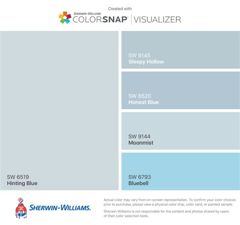 i found these colors with colorsnap 174 visualizer for iphone by sherwin williams hinting blue sw