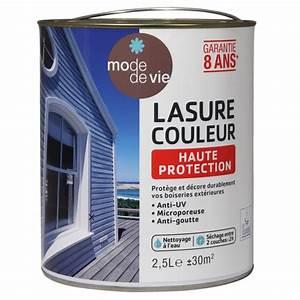 Peinture Lasure Bois Exterieur : lasure mode de vie haute protection vert basque 2 5l lasure et vernis ext rieur bois ~ Dode.kayakingforconservation.com Idées de Décoration