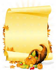 Free Thanksgiving Clip Art Borders Invitations