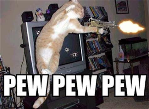 Pew Pew Meme - caterville pew pew pew cats