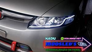 Barra De Led Flex U00cdvel No Farol Do New Civic Honda 2006