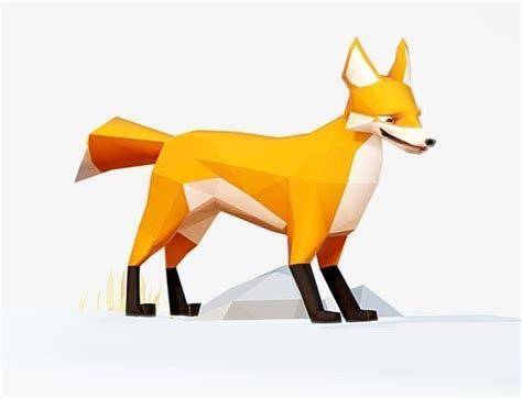 wallpaper fox low poly 3d 3d asset fox low poly cgtrader Wallp