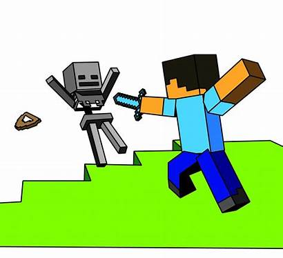 Minecraft Coloring Printable Colored Amazing Steve Skeleton