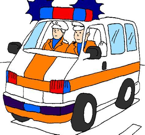disegno ambulanza  servizio colorato da utente