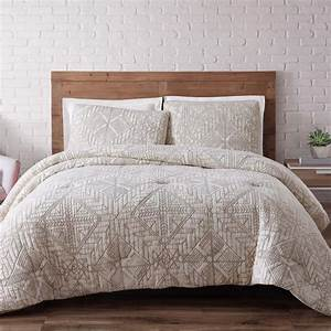 Brooklyn loom sand washed cotton king comforter set in for Brooklyn loom bedding