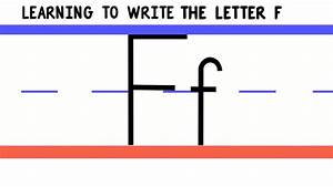 Write the Letter F - ABC Writing for Kids - Alphabet ...