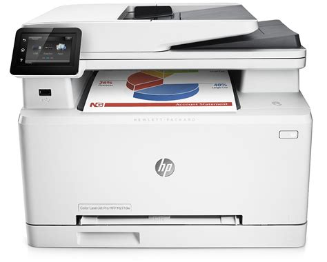 Using 1200 mhz processor with installed ram until 128 mb. HP LaserJet Pro M277dw Wireless All-in-One Color Printer ...