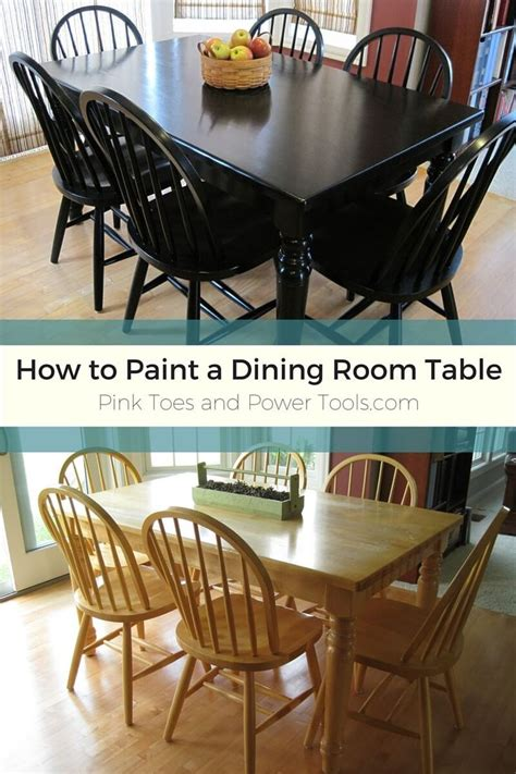diy girl   blog black dining room table painted