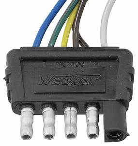 Wesbar 5-pole Flat Connector - Wishbone Style - Trailer End