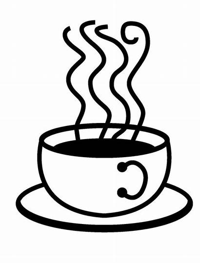 Coffee Cup Drawing Line Clipart Latte Stone