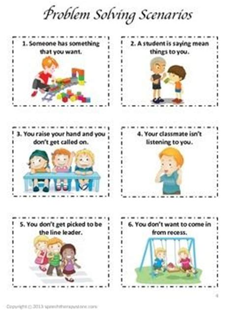 speech therapy problem solving scenarios amp graphic 719 | 3558d3afe2d813f860831bea2a948959 speech therapy activities problem solving speech therapy