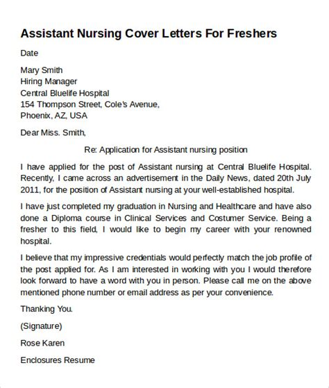 Exles Of Cover Letters For Healthcare by Cover Letter Exles Nursing Assistant 28 Images Doctors