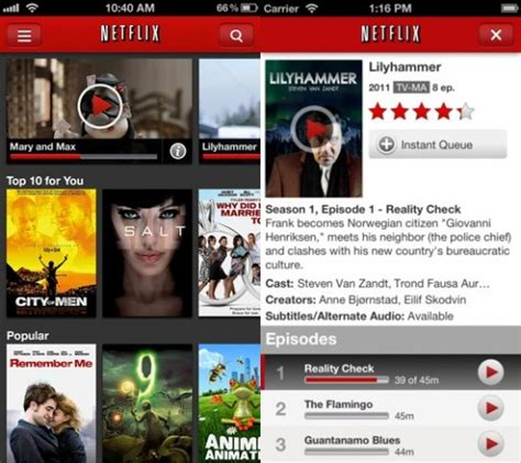 netflix app for iphone netflix gets iphone 5 ios 6 support