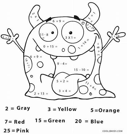 Math Coloring Pages Grade 2nd Halloween Printable