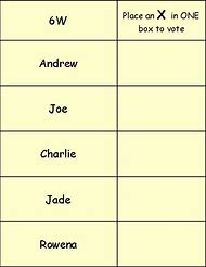 voting ballot template
