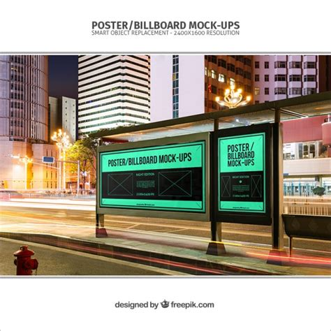 bus stop poster psd template bus stop billboards mockup psd file free download